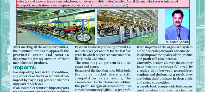 Motorcycle Assembling, Marketing and Aftermarket Business in Pakistan