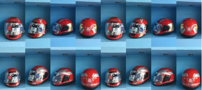 U ORIGINAL HELMETS RED COLOR